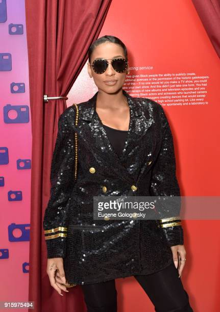LeA Robinson attends the BET NETWORKS Hosting of the Opening Night Reception For 'THE MUSEUM OF MEME' In Celebration Of 'THE BET SOCIAL AWARDS' at...