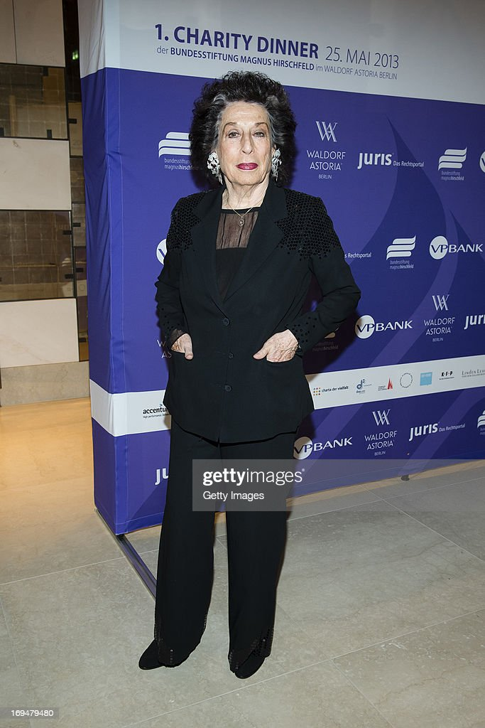 Lea Rosh attends the 1st Charity Dinner by Federal Trust Fund Magnus Hirschfeld at Waldorf Astoria on May 25, 2013 in Berlin, Germany.