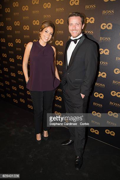 Lea Salame and Florent Peiffer attend the GQ Men of the Year Awards 2016 Photocall at Musee d'Orsay on November 23 2016 in Paris France