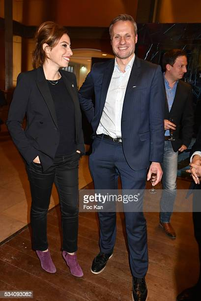 PARIS FRANCE MAI Lea Salame and Jean Sebastien Ferjou attend Atlantico 5th Anniversary at Cafe Campana in Musee D'Orsay on May 24 2016 in Paris France