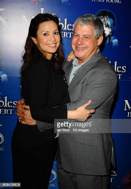 Lea Salonga and Cameron Mackintosh at the after party of the Les Miserables Anniversary performance at the O2 in London