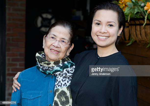 Lea Salonga and mother Ligaya Alcantara Imutan attend the Actors' Equity Season Opener Mixer at The Sanctuary Hotel on September 20 2015 in New York...