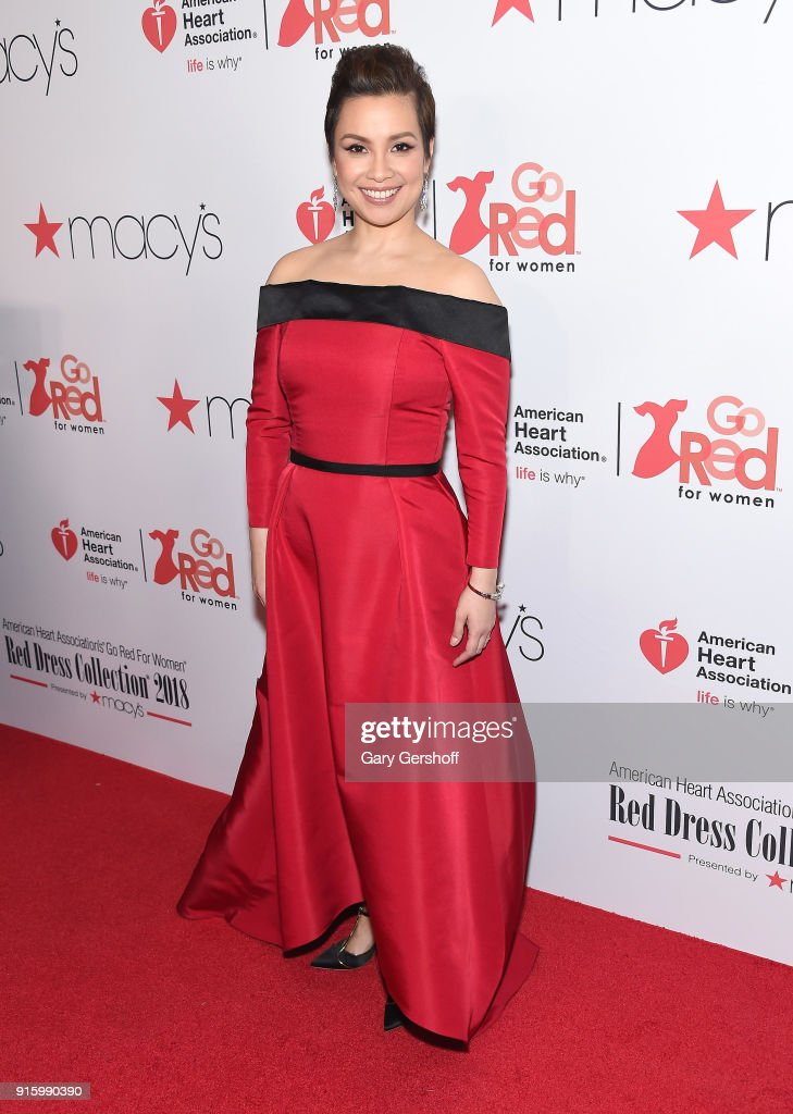 Lea Salonga attends the Red Dress / Go Red For Women Fashion Show at Hammerstein Ballroom on February 8, 2018 in New York City.