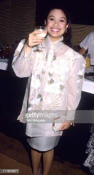 Lea Salonga during Opening Night of Miss Saigon After Party September 20 1989 in London Great Britain
