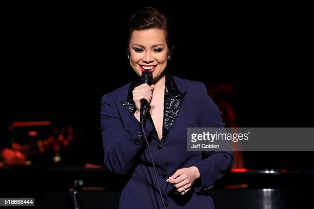 Lea Salonga performs at Valley Performing Arts Center on April 1 2016 in Northridge California