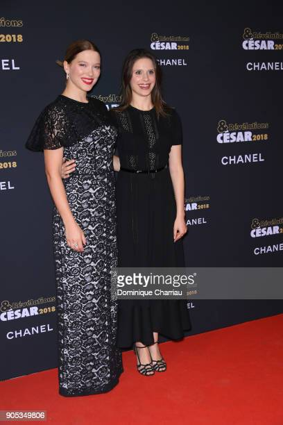Lea Seydoux and c attend the 'Cesar Revelations 2018' Party at Le Petit Palais on January 15 2018 in Paris France