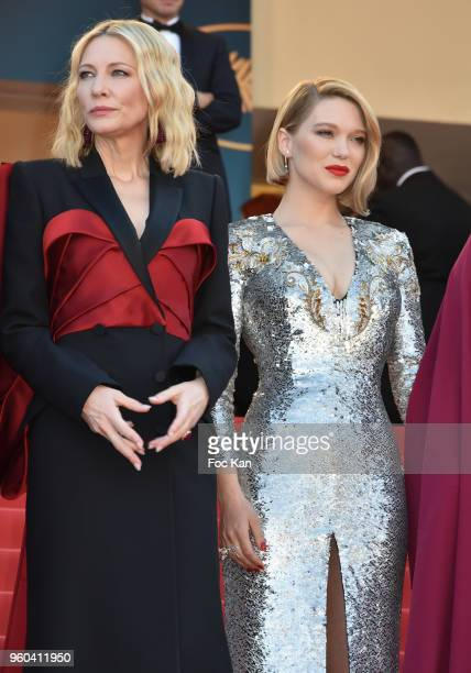 Lea Seydoux and Cate Blanchettattend the Closing Ceremony screening of 'The Man Who Killed Don Quixote' during the 71st annual Cannes Film Festival...