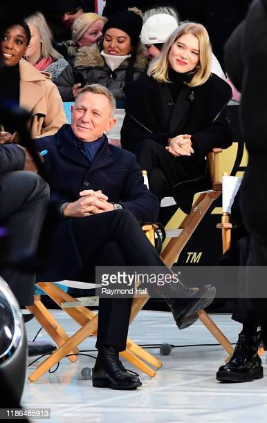 Lea Seydoux and Daniel Craig are seen outside Good Morning America on December 4 2019 in New York City