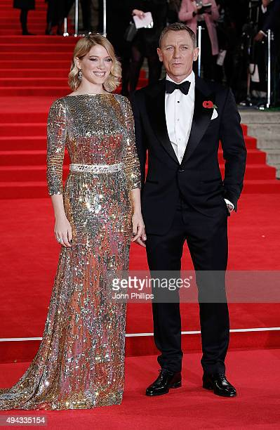 Lea Seydoux and Daniel Craig attend the Royal Film Performance of Spectre at Royal Albert Hall on October 26 2015 in London England
