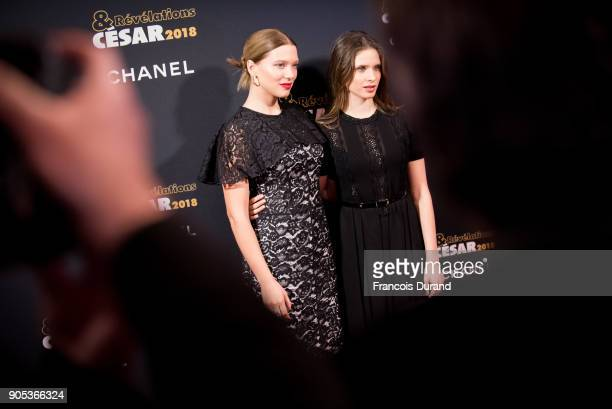 Lea Seydoux and Daphne Patakia attend the 'Cesar Revelations 2018' party at Le Petit Palais on January 15 2018 in Paris France