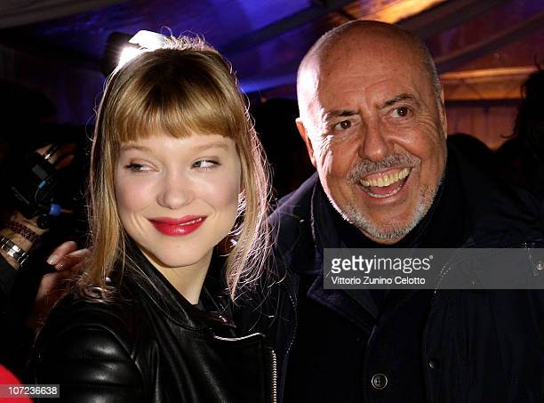 Lea Seydoux and Elio Fiorucci attend the Grey Goose Christmas Boutique Opening on December 1 2010 in Milan Italy