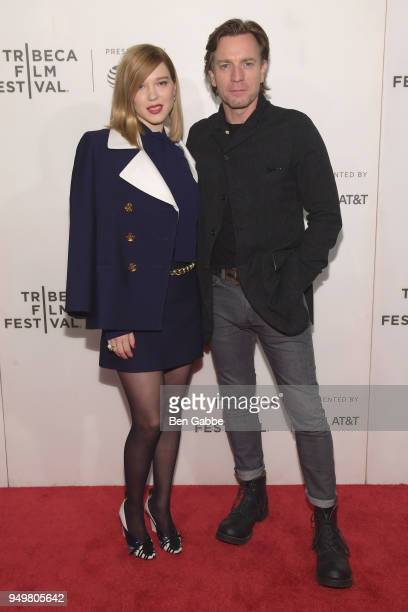 Lea Seydoux and Ewan McGregor attend the 'Zoe' premiere during the 2018 Tribeca Film Festival at BMCC Tribeca PAC on April 21 2018 in New York City