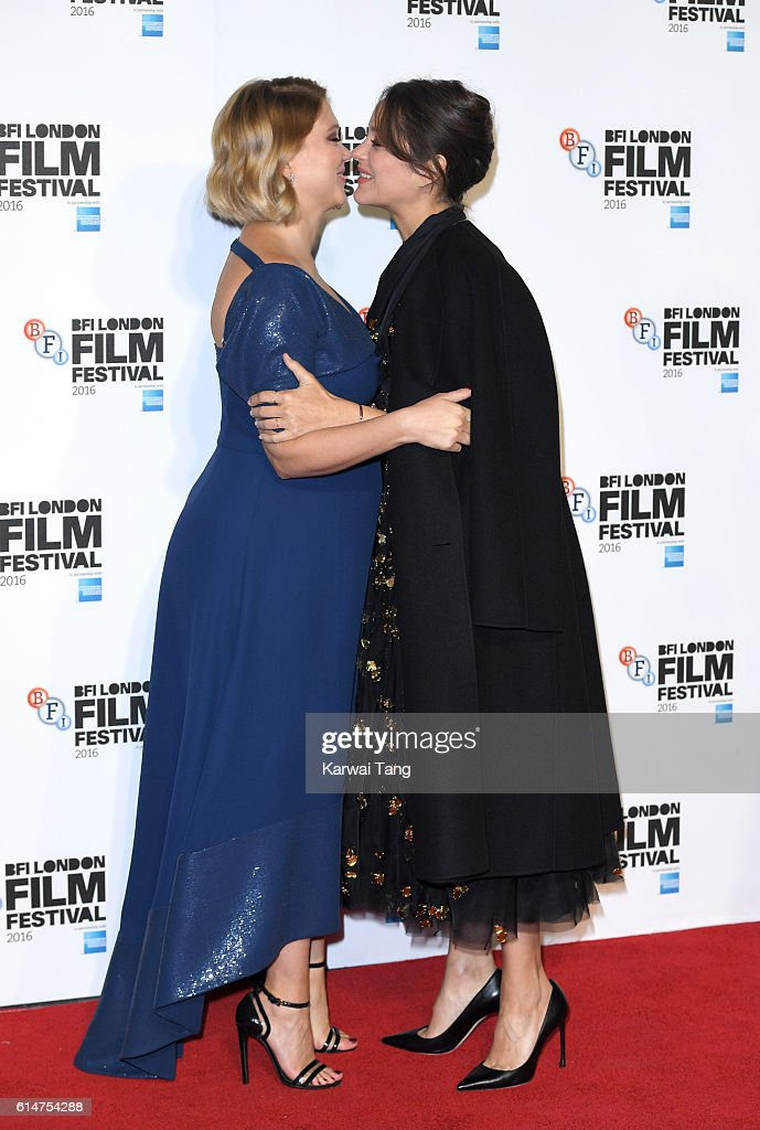 Lea Seydoux and Marion Cotillard attend the 'It's Only The End Of The World' BFI Flare Special Presentation screening during the 60th BFI London Film Festival at Odeon Leicester Square on October 14, 2016 in London, England.