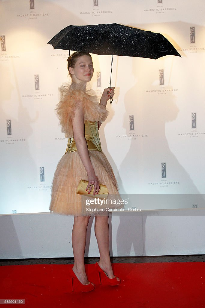 Lea Seydoux at the Opening Dinner during the 63rd Cannes International Film Festival.