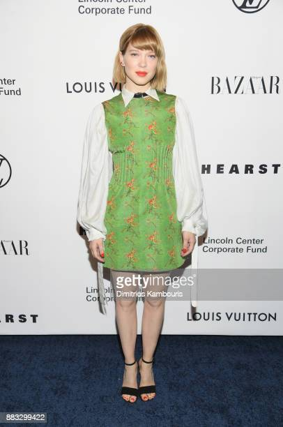 Lea Seydoux attends An Evening Honoring Louis Vuitton and Nicolas Ghesquiere at Alice Tully Hall at Lincoln Center on November 30 2017 in New York...