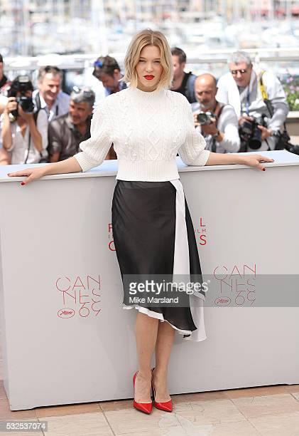 Lea Seydoux attends 'It's Only The End Of The World ' during the Photocall The 69th Annual Cannes Film Festival on May 19 2016 in Cannes