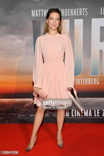 Lea Seydoux attends 'Kursk' Paris Premiere at La Cite Du Cinema on October 25 2018 in SaintDenis France