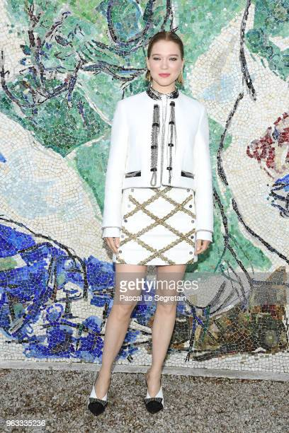 Lea Seydoux attends Louis Vuitton 2019 Cruise Collection at Fondation Maeght on May 28 2018 in SaintPaulDeVence France