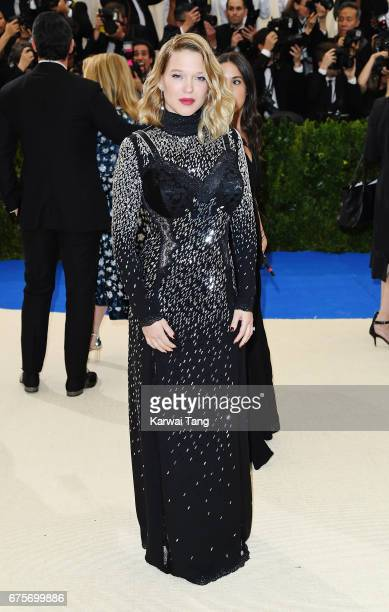 Lea Seydoux attends 'Rei Kawakubo/Comme des Garcons Art Of The InBetween' Costume Institute Gala at Metropolitan Museum of Art on May 1 2017 in New...