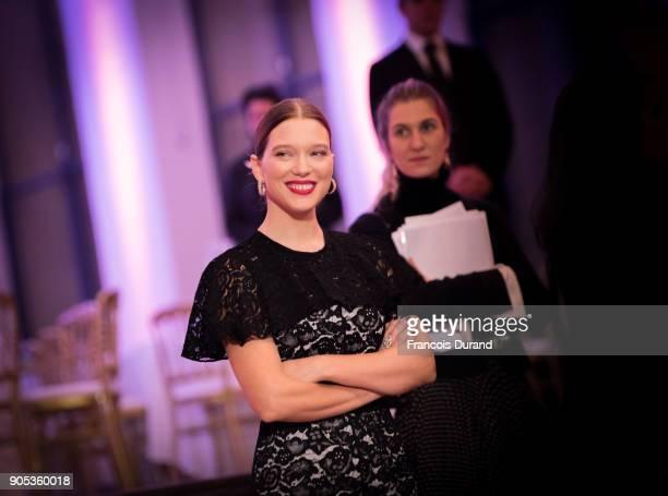 Lea Seydoux attends the 'Cesar Revelations 2018' party at Le Petit Palais on January 15 2018 in Paris France