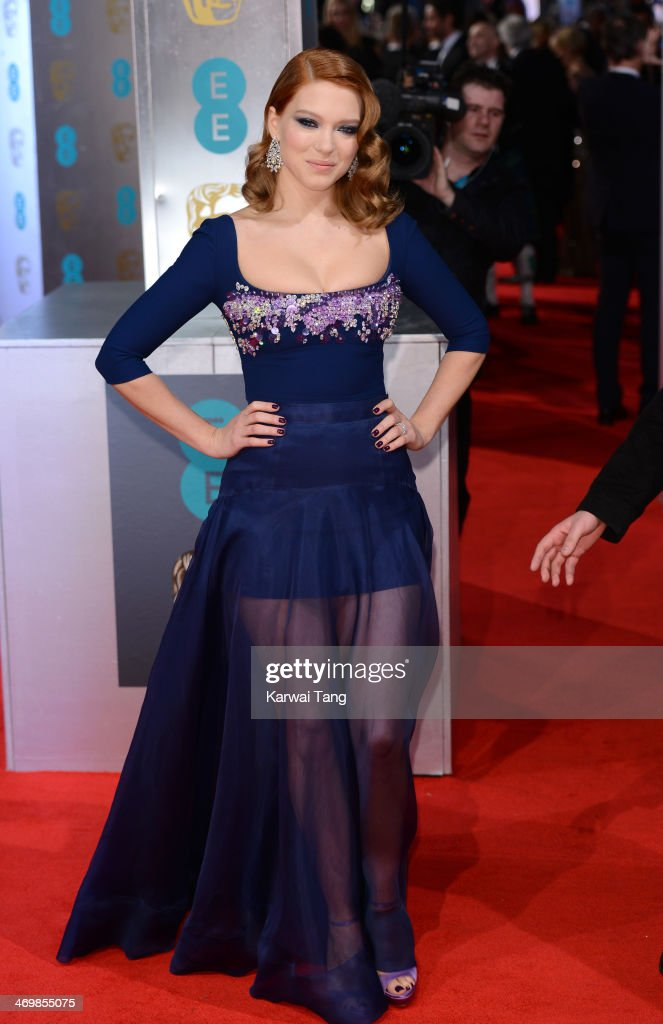 Lea Seydoux attends the EE British Academy Film Awards 2014 at The Royal Opera House on February 16, 2014 in London, England.