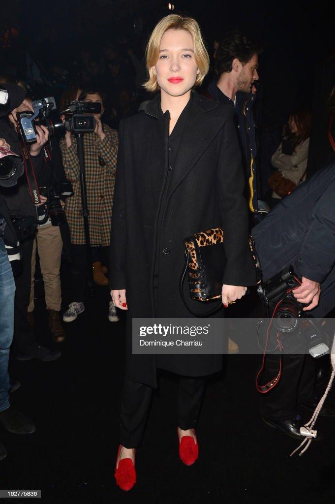 Lea Seydoux attends the Etam Live Show Lingerie at Bourse du Commerce on February 26, 2013 in Paris, France.