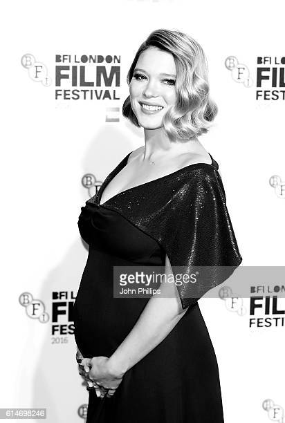 Lea Seydoux attends the 'It's Only The End Of The World' BFI Flare Special Presentation screening during the 60th BFI London Film Festival at Odeon...