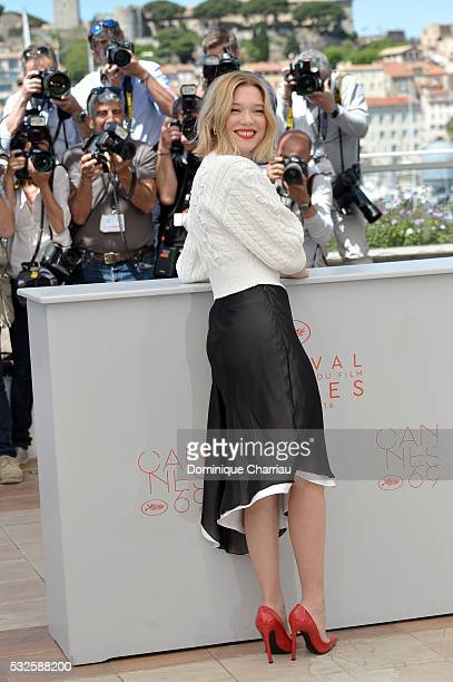 """Lea Seydoux attends the """"It's Only The End Of The World """" Photocall during the 69th annual Cannes Film Festival at the Palais des Festivals on May..."""