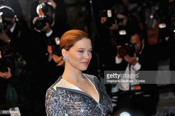 Lea Seydoux attends the It's Only The End Of The World Premiere during the 69th annual Cannes Film Festival at the Palais des Festivals on May 19...
