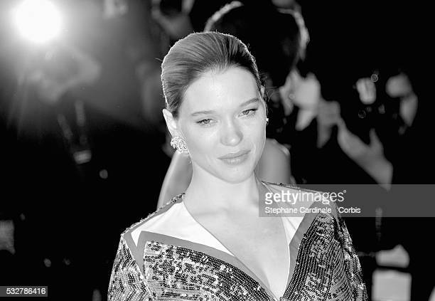 """Lea Seydoux attends the """"It's Only The End Of The World """" Premiere during the 69th annual Cannes Film Festival at the Palais des Festivals on May 19,..."""