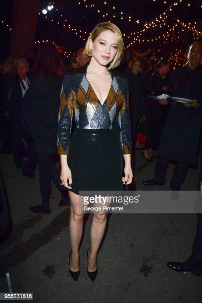 Lea Seydoux attends the Kering Women In Motion dinner during the 71st annual Cannes Film Festival at Place de la Castre on May 13 2018 in Cannes...