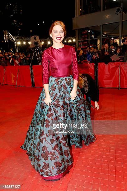 Lea Seydoux attends the 'La belle et la bete' Premiere Audi At The 64th Berlinale International Film Festival at Berlinale Palast on February 14 2014...