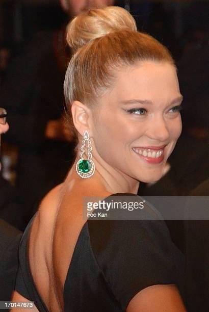 Lea Seydoux attends the 'La Vie D'Adele Chapitre 1 2 Blue Is The Warmest Color' Premiere The 66th Annual Cannes Film Festival Day 9 at Palais des...