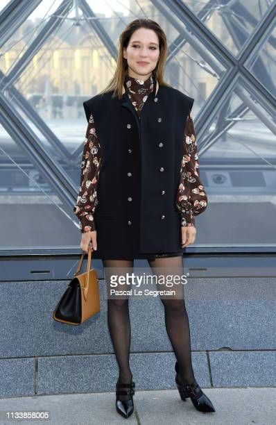 Lea Seydoux attends the Louis Vuitton show as part of the Paris Fashion Week Womenswear Fall/Winter 2019/2020 on March 05 2019 in Paris France