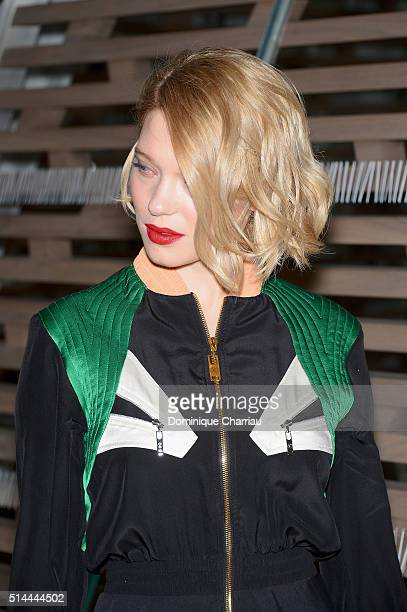 Lea Seydoux attends the Louis Vuitton show as part of the Paris Fashion Week Womenswear Fall/Winter 2016/2017 on March 9 2016 in Paris France