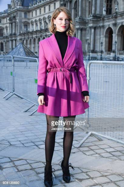 Lea Seydoux attends the Louis Vuitton show as part of the Paris Fashion Week Womenswear Fall/Winter 2018/2019 on March 6, 2018 in Paris, France.