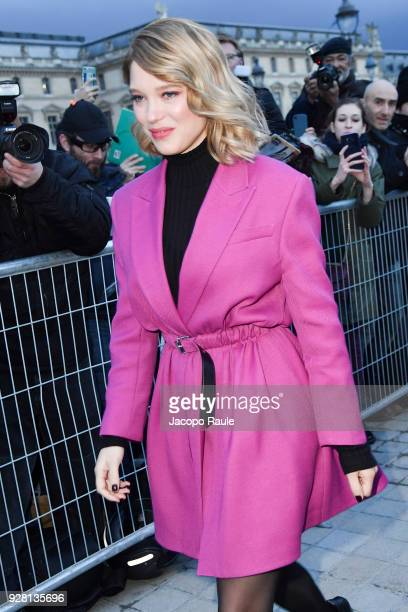 Lea Seydoux attends the Louis Vuitton show as part of the Paris Fashion Week Womenswear Fall/Winter 2018/2019 on March 6 2018 in Paris France