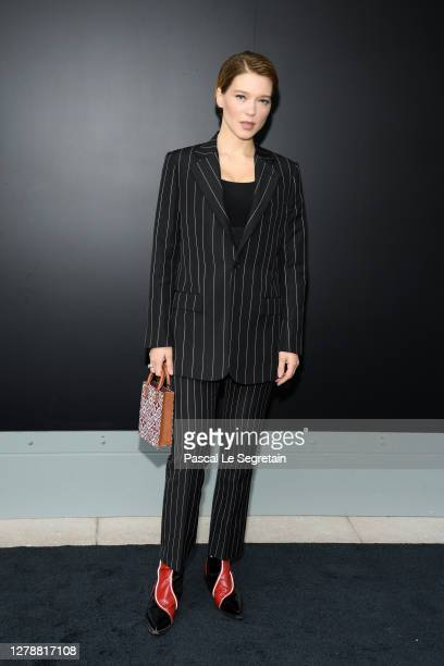 Lea Seydoux attends the Louis Vuitton Womenswear Spring/Summer 2021 show as part of Paris Fashion Week on October 06, 2020 in Paris, France.