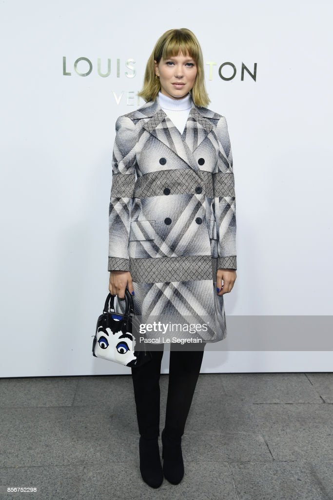 Lea Seydoux attends the Opening Of The Louis Vuitton Boutique as part of the Paris Fashion Week Womenswear Spring/Summer 2018 on October 2, 2017 in Paris, France.