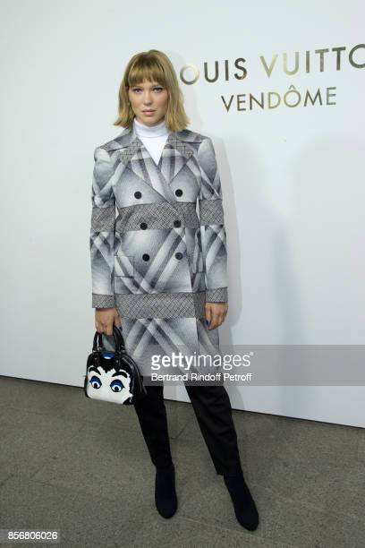 Lea Seydoux attends the Opening Of The Louis Vuitton Boutique as part of the Paris Fashion Week Womenswear Spring/Summer 2018 on October 2 2017 in...