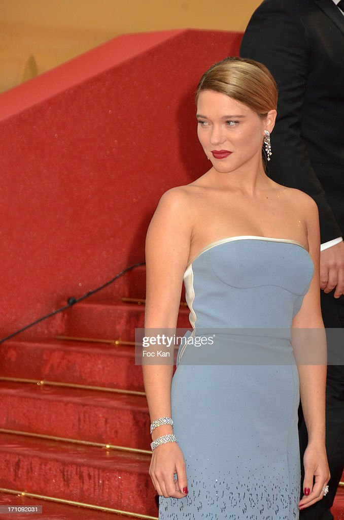 Lea Seydoux attends the Premiere of 'Jimmy P. (Psychotherapy Of A Plains Indian)' at Palais des Festivals during The 66th Annual Cannes Film Festival on May 18, 2013 in Cannes, France.