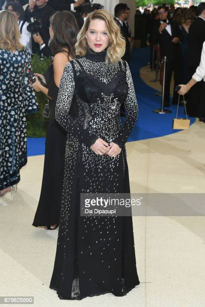 Lea Seydoux attends the 'Rei Kawakubo/Comme des Garcons Art Of The InBetween' Costume Institute Gala at Metropolitan Museum of Art on May 1 2017 in...