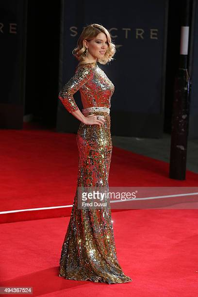 Lea Seydoux attends the Royal World Premiere of Spectre at Royal Albert Hall on October 26 2015 in London England