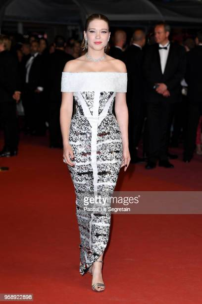 Lea Seydoux attends the screening of Under The Silver Lake during the 71st annual Cannes Film Festival at Palais des Festivals on May 15 2018 in...