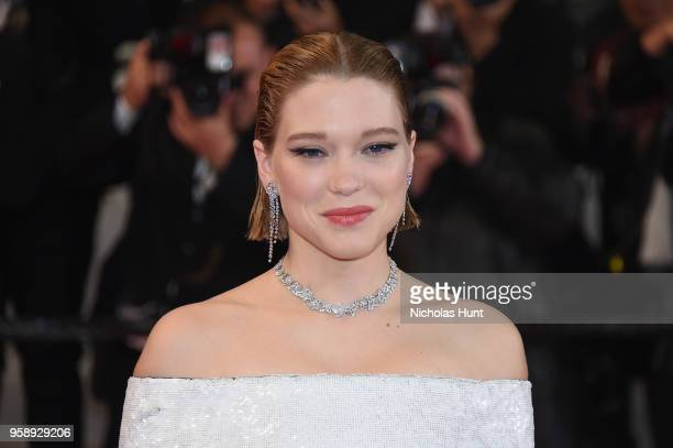 Lea Seydoux attends the screening of 'Under The Silver Lake' during the 71st annual Cannes Film Festival at Palais des Festivals on May 15 2018 in...