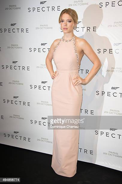 Lea Seydoux attends the Spectre Paris Premiere at Le Grand Rex on October 29 2015 in Paris France