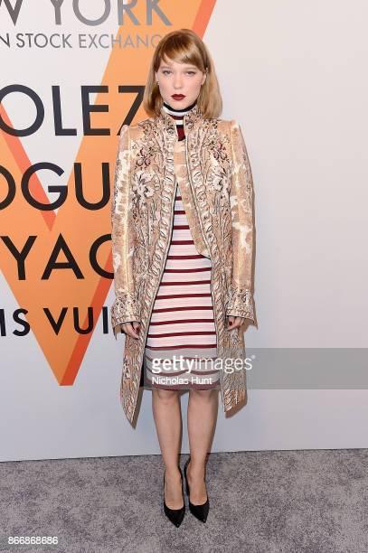Lea Seydoux attends the Volez Vogez Voyagez Louis Vuitton Exhibition Opening on October 26 2017 in New York City