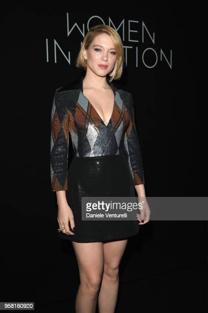 Lea Seydoux attends the Women in Motion Awards Dinner presented by Kering and the 71th Cannes Film Festival at Place de la Castre on May 13 2018 in...