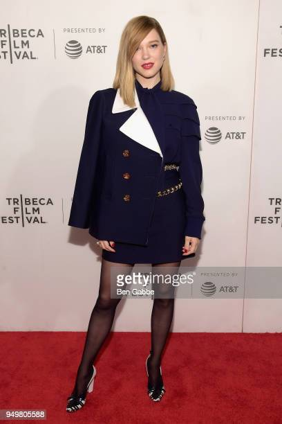 Lea Seydoux attends the Zoe premiere during the 2018 Tribeca Film Festival at BMCC Tribeca PAC on April 21 2018 in New York City