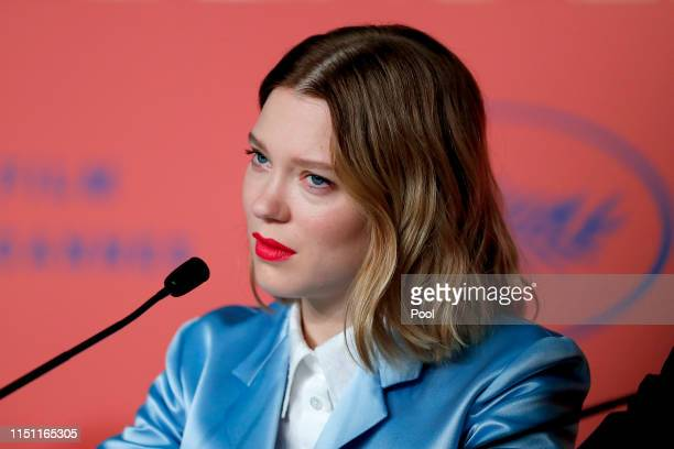 Lea Seydoux attends theOh Mercy Press Conference during the 72nd annual Cannes Film Festival on May 23 2019 in Cannes France